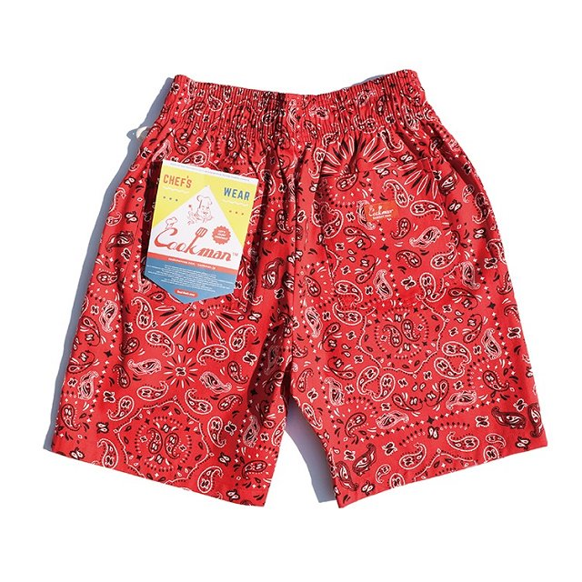 【COOKMAN】Chef Short Pants Paisley:画像2
