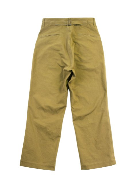 【H.UNIT】Classic chino two tuck trousers:画像2