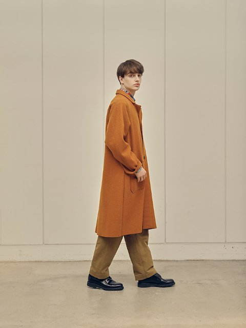 【H.UNIT】Classic chino two tuck trousers:画像4
