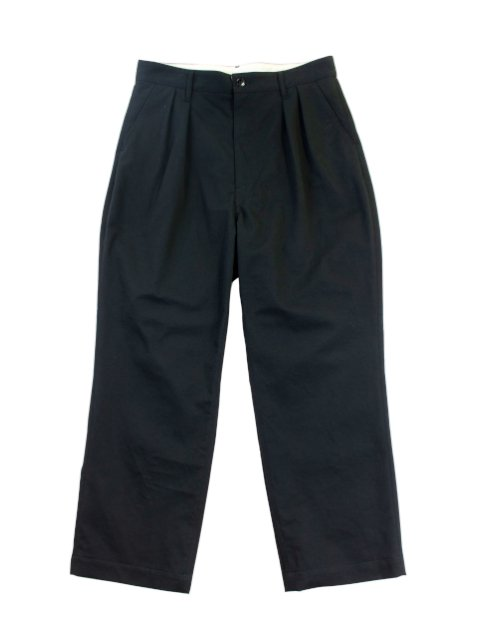 【H.UNIT】Classic chino two tuck trousers