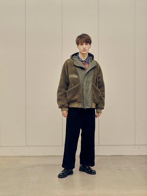 【H.UNIT】Corduroy crown size trousers:画像4
