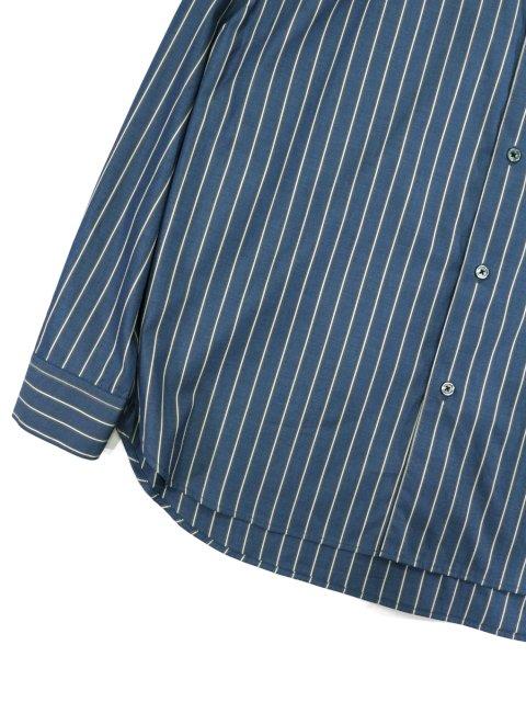 【SLICK】100/2 Stripe Dropped Shoulders Shirt:画像3