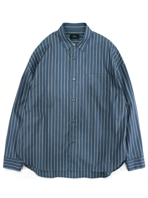 【SLICK】100/2 Stripe Dropped Shoulders Shirt