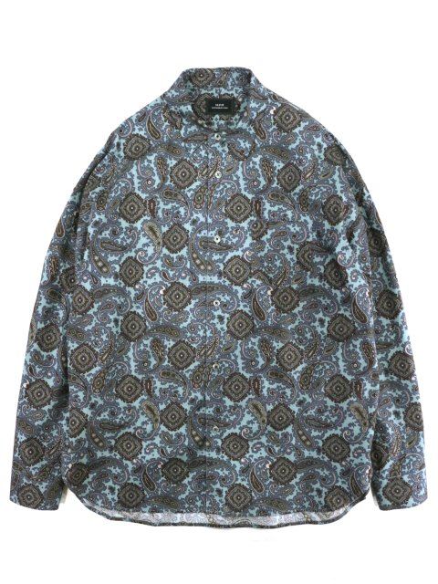 【SLICK】Paisley Pattern Dropped Shoulders Shirt:メイン画像