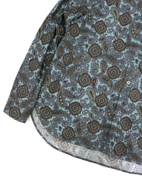 【SLICK】Paisley Pattern Dropped Shoulders Shirt:画像3