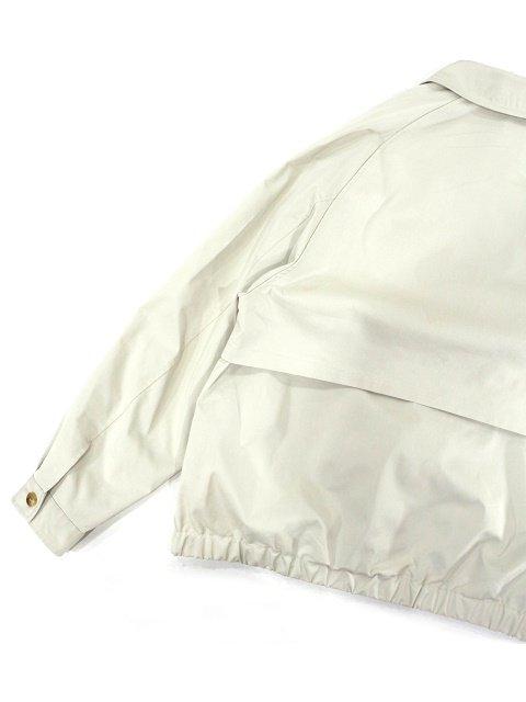 【SLICK】T/C Gaberdine Wide Short Double Pocket Blouson:画像4