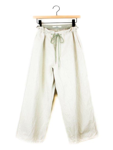 【amne】LINEN DENIM work trouser:メイン画像