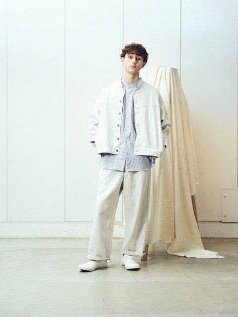 【amne】LINEN DENIM work trouser:画像3