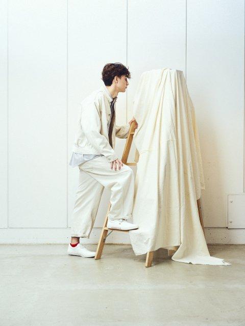 【amne】LINEN DENIM work trouser:画像4