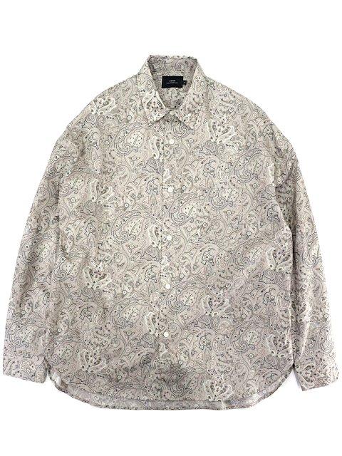 【SLICK】Broad Paisley Dropped Shoulders Shirt:メイン画像