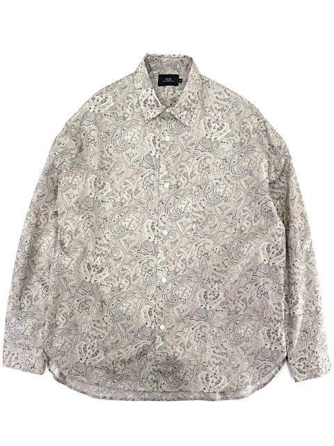 【SLICK】Broad Paisley Dropped Shoulders Shirt