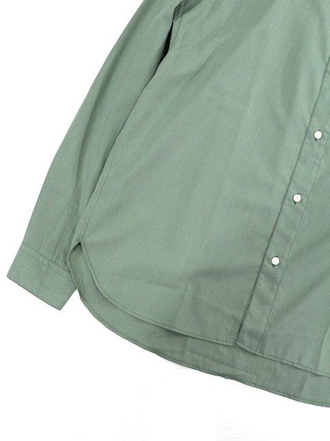 【SLICK】Vintage Poplin Dropped Shoulders Band Collar Shirt:画像3