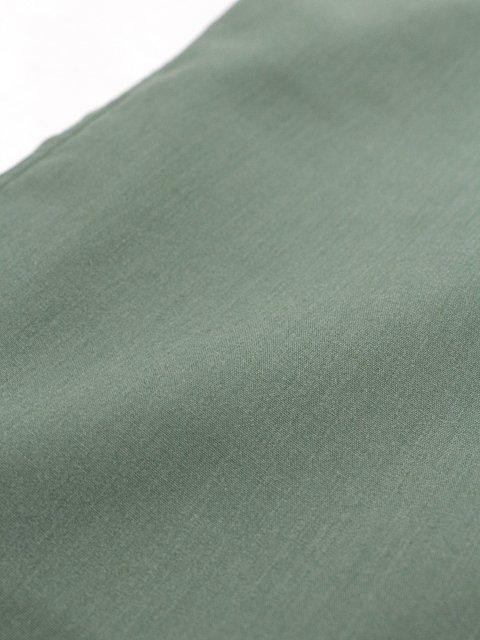【SLICK】Vintage Poplin Dropped Shoulders Band Collar Shirt:画像4