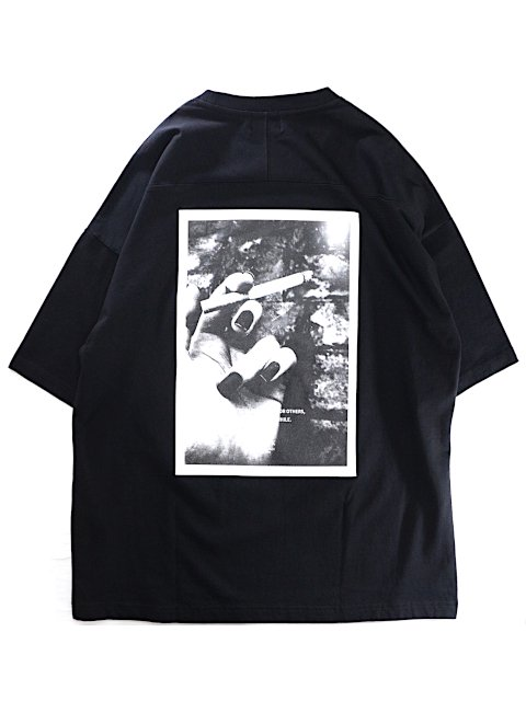 【SLICK】Dropped Shoulders Printed T-Shirt (Unless):画像2