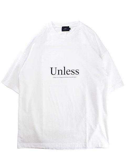 【SLICK】Dropped Shoulders Printed T-Shirt (Unless):メイン画像