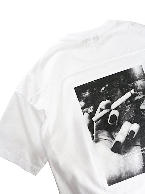 【SLICK】Dropped Shoulders Printed T-Shirt (Unless):画像4