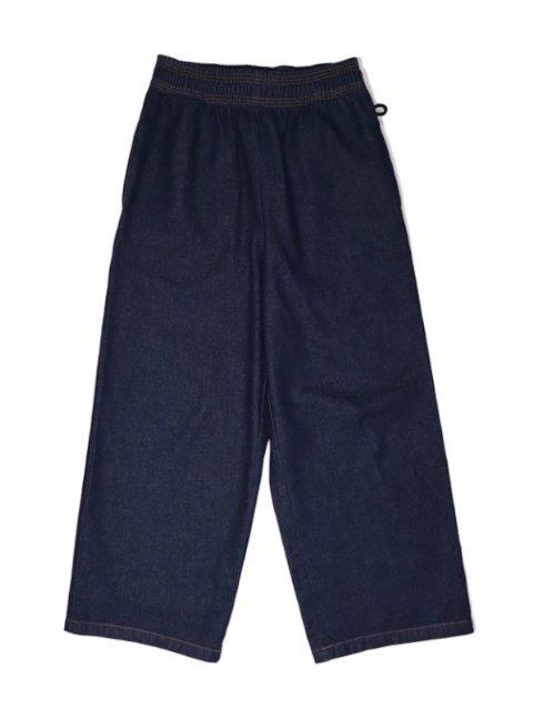 【COOKMAN】Wide Chef Pants Denim