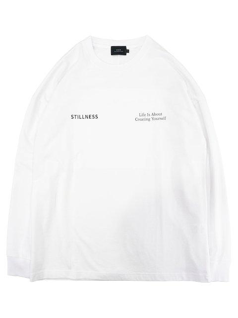 【SLICK】Dropped Shoulders Printed T-Shirt (Stillness):メイン画像