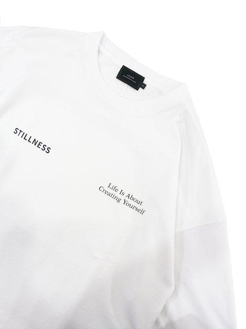 【SLICK】Dropped Shoulders Printed T-Shirt (Stillness):画像2