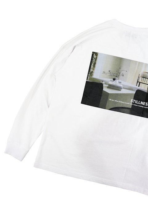 【SLICK】Dropped Shoulders Printed T-Shirt (Stillness):画像3