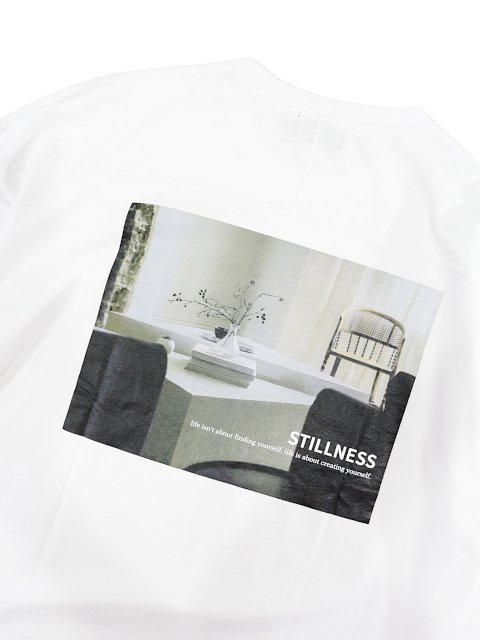 【SLICK】Dropped Shoulders Printed T-Shirt (Stillness):画像4