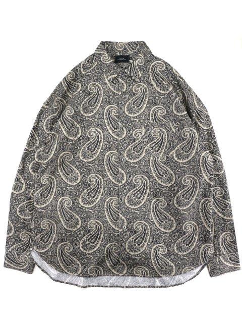 【SLICK】Broad Paisley Pattern Dropped Shoulders Shirt:メイン画像