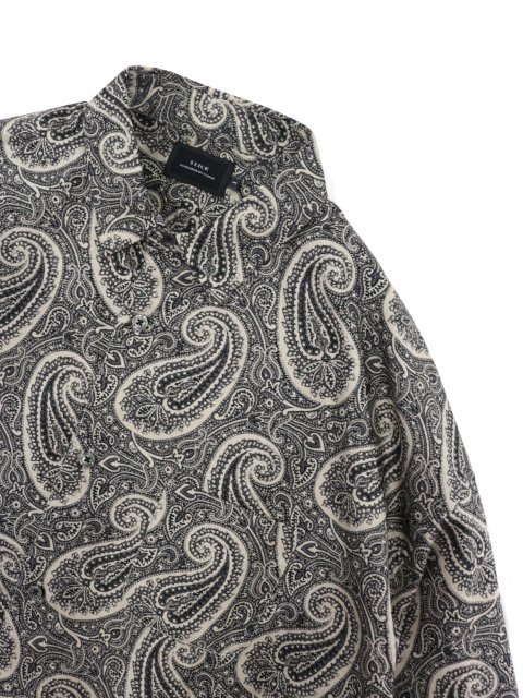 【SLICK】Broad Paisley Pattern Dropped Shoulders Shirt:画像2