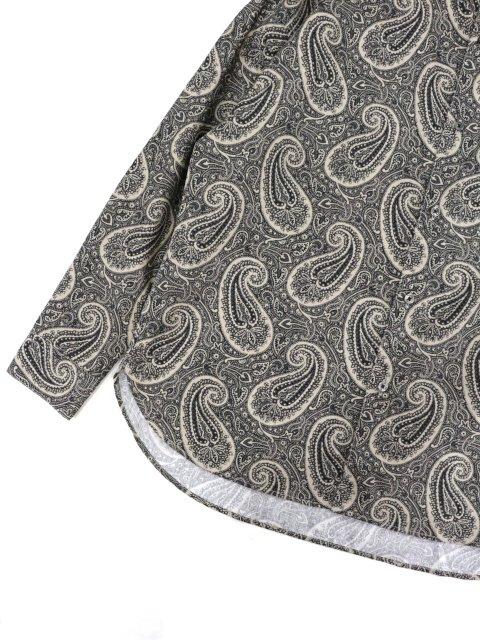 【SLICK】Broad Paisley Pattern Dropped Shoulders Shirt:画像3