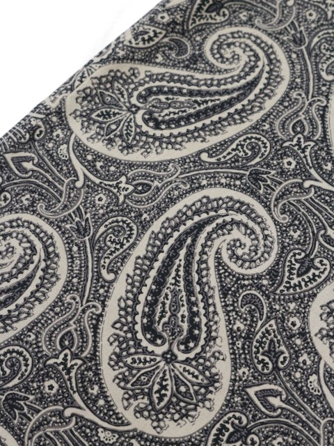 【SLICK】Broad Paisley Pattern Dropped Shoulders Shirt:画像4