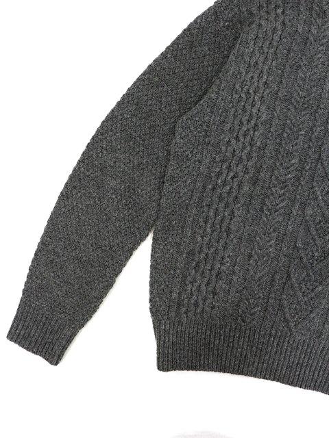 【soglia】LANDNOAH Fisherman Sweater:画像3