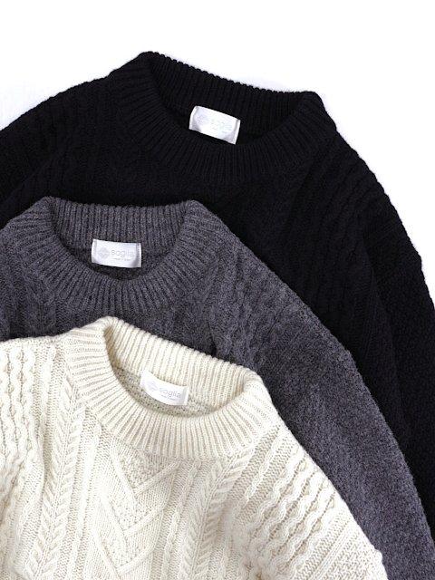 【soglia】LANDNOAH Fisherman Sweater:画像2