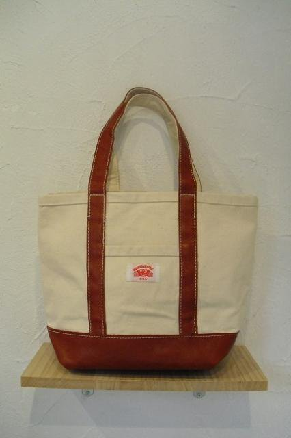 【ROUND HOUSE】CANVAS×LEATHER TOTE BAG:メイン画像