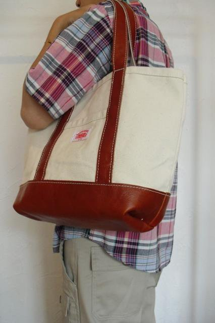 【ROUND HOUSE】CANVAS×LEATHER TOTE BAG:画像4