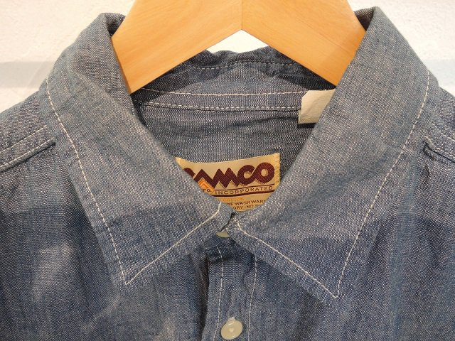 【CAMCO】L/S CHAMBRAY WORK SHIRTS:画像2