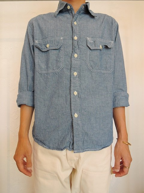 【CAMCO】L/S CHAMBRAY WORK SHIRTS:画像4