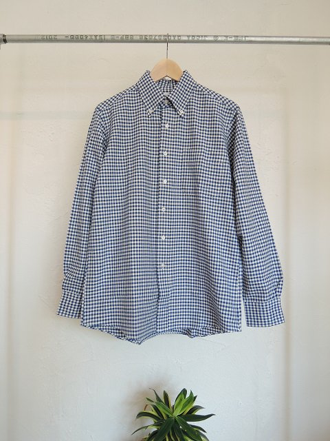 【THE BAGGY】GINGHAM CHECK OXFORD L/S B.D.