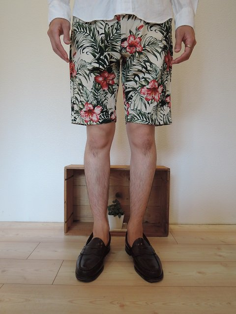 【F.O.B FACTORY】FLOWER WORK SHORTS:画像4