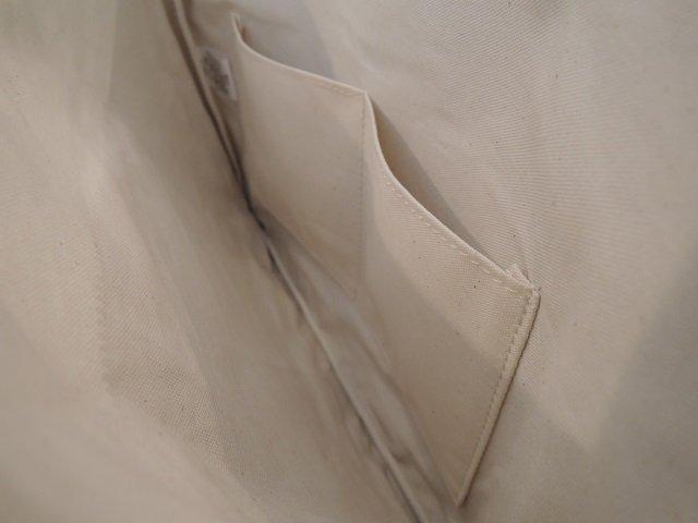 【Butler Verner Sails】10号パラフィンキャンバス ジップクラッチバッグ【DM便発送可能】:画像3