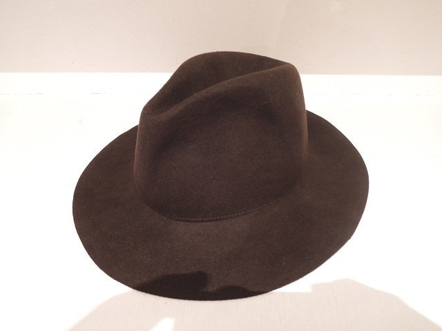 【9.】LONG BRIM WOOL HAT:メイン画像