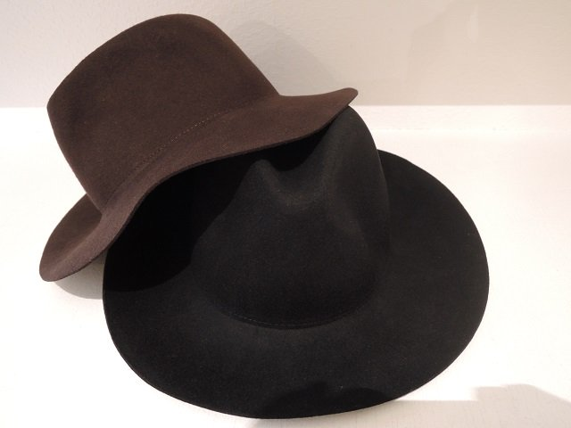 【9.】LONG BRIM WOOL HAT:画像3