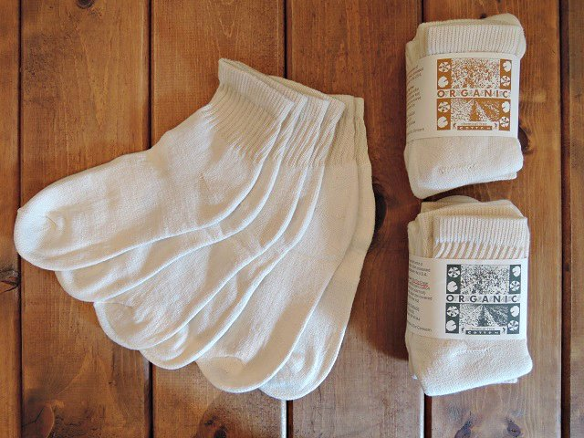 【ORGANIC THREADS】SHORT TOP CREW 3P SOCKS