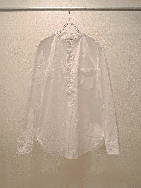 【MANUAL ALPHABET】100/2タイプライター バンドカラーP/Oシャツ:メイン画像