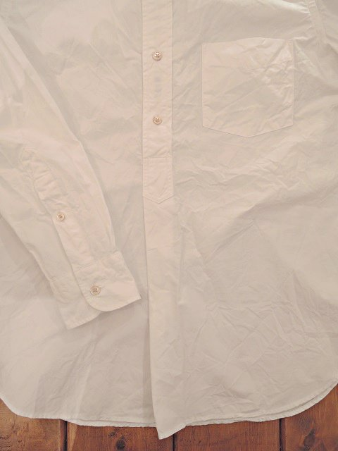 【MANUAL ALPHABET】100/2タイプライター バンドカラーP/Oシャツ:画像3