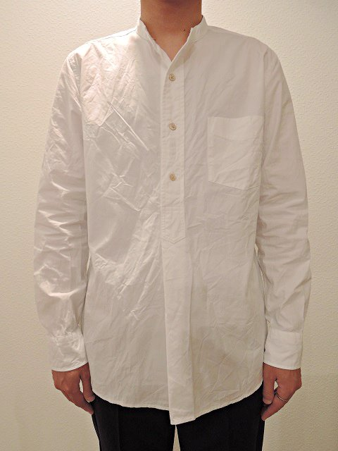 【MANUAL ALPHABET】100/2タイプライター バンドカラーP/Oシャツ:画像4