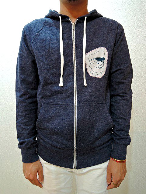【SALTY'S】SALTY CAPTAIN PATCH HOODY:画像4