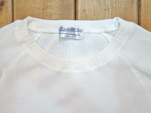 【ELEVEN EIGHT】LOOSE-FIT L/S WAFFLE:画像2