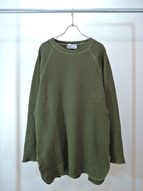 【ELEVEN EIGHT】LOOSE-FIT L/S WAFFLE:メイン画像