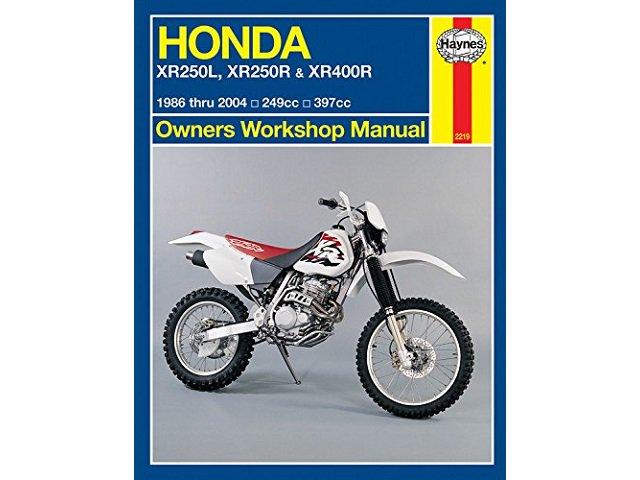 ホンダ XR250L XR250R XR400R 1986-2004 サービスマニュアル
