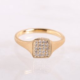 Signet Ring  |  Paves Diamond