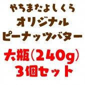 【大瓶】ピーナッツバター240gお好み3個セット【ご予約注文】